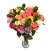 Two Dozen Rainbow Roses Bouquet