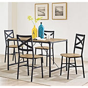 W. Trends Angle Iron 5-Pc. Dining Set - Barnwood
