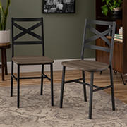 W. Trends X-Back Dining Chairs, 2 pk. - Driftwood