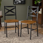 W. Trends X-Back Dining Chairs, 2 pk. - Barnwood