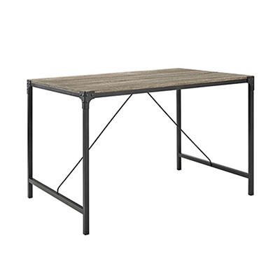 "W. Trends Angle 48"" Iron Dining Table - Driftwood"