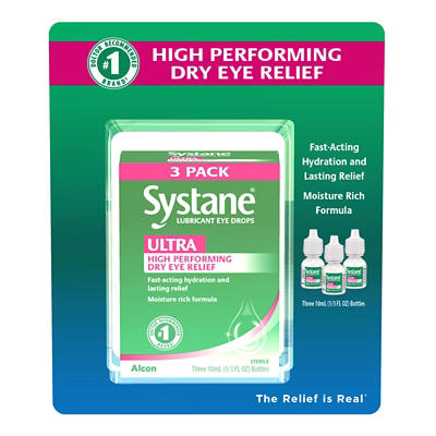 Systane Ultra Lubrication Eye Drops, 3 pk./10mL