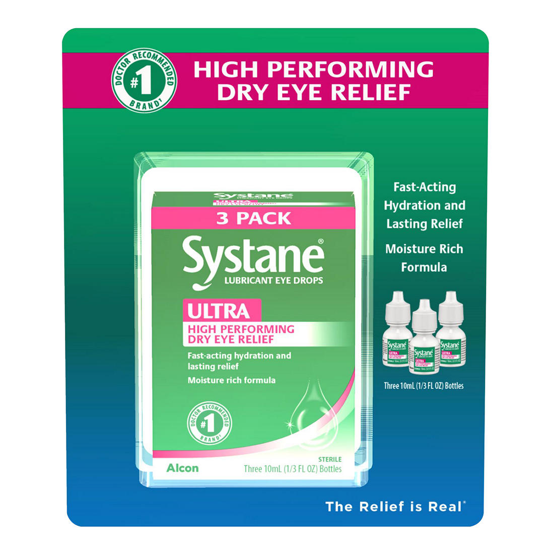 photograph about Systane Coupons Printable titled Systane Extremely Lubrication Eye Drops, 3 pk./10mL