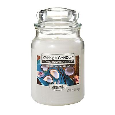 Yankee Candle Jar Candle, 19 oz. - Creamy Vanilla Coconut