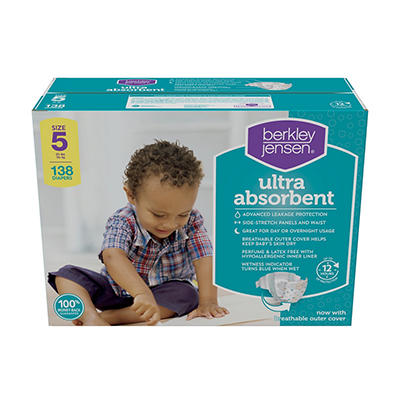 Berkley Jensen Ultra Absorbent Diapers, Size 5, 138 ct.