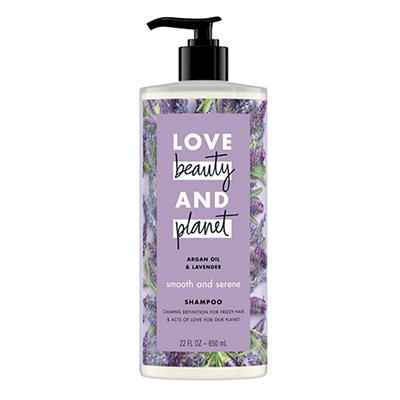 Love Beauty and Planet Smooth and Serene Argan Oil and Lavender Shampo