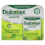 Dulcolax Overnight Relief Laxative Tablets, 200 ct.