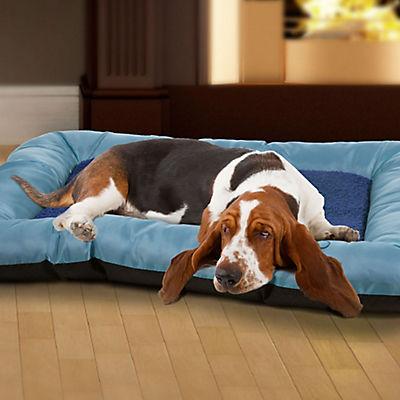 PETMAKER Small/Medium Comfy Cozy Pet Bed - Blue