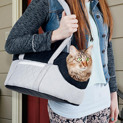 PETMAKER Cozy Travel Pet Carrier - Gray/Black