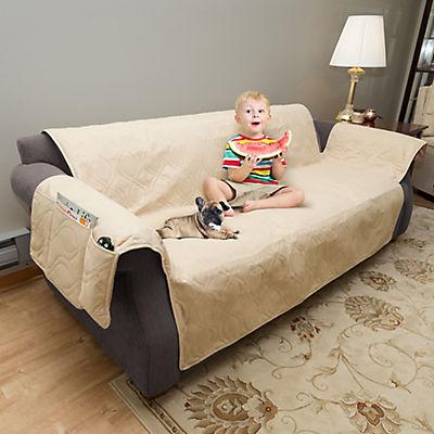 PETMAKER Water-Resistant Sofa Cover - Tan