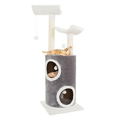 "PETMAKER 44.75"" 5-Tier Sleep-and-Play Cat Tree Condo - Gray/White"