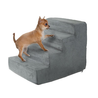 PETMAKER 4-Step High-Density Foam Pet Stairs - Gray