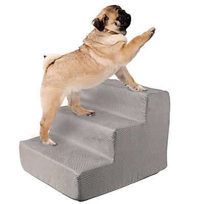 PETMAKER 3-Step High-Density Foam Pet Stairs - DK Gray
