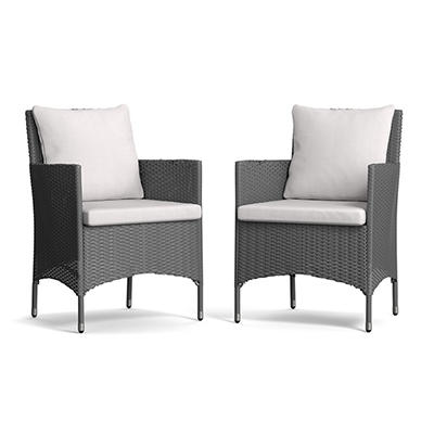 Handy Living Aldrich Patio Dining Armchairs, 2 pk. - Gray