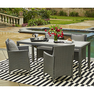 Handy Living Aldrich 5-Pc. Outdoor Dining Set - Gray