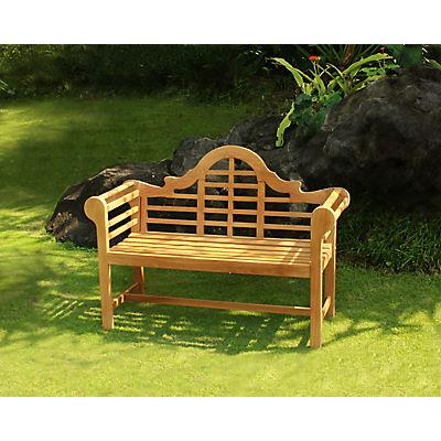 Crestwood Garden 4' Teak Lutyens Patio Bench - Brown