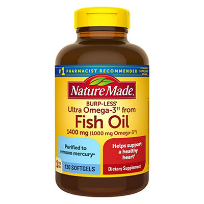 Nature Made 1,400mg Ultra Omega-3 Fish Oil, 130 ct.