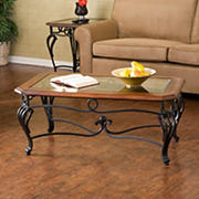 SEI Martine Coffee Table - Dark Cherry