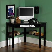 SEI Red Bank Corner Computer Desk - Black