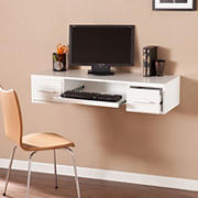 SEI Sonya Wall Mount Desk - White