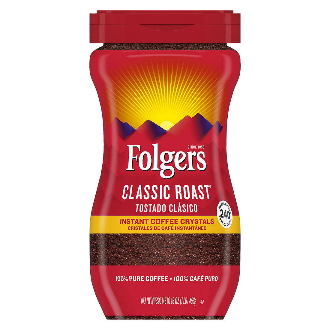 photo about Folgers Coffee Coupons Printable referred to as Folgers Immediate Espresso, 16 oz.