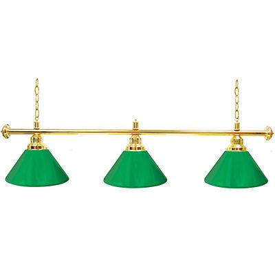 """60"""" 3-Shade Billiard Lamp - Green/Gold"""