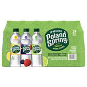 Poland Spring Assorted Flavor Sparkling Natural Spring Water, 24 pk./16.9 oz.