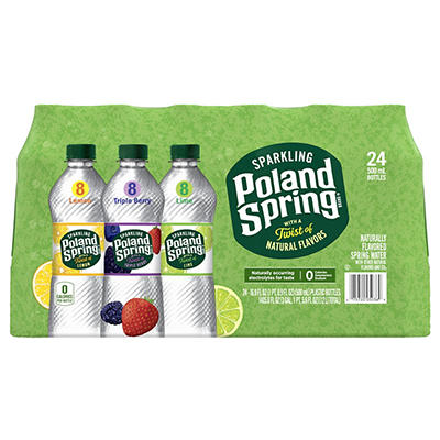 Poland Spring Assorted Flavor Sparkling Natural Spring Water, 24 pk./1