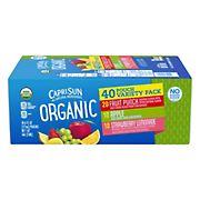 Capri Sun Organic Variety Pack, 40 ct./6 fl. oz.