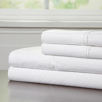 Lavish Home Full-Size Brushed Microfiber 4-Pc. Sheet Set - White
