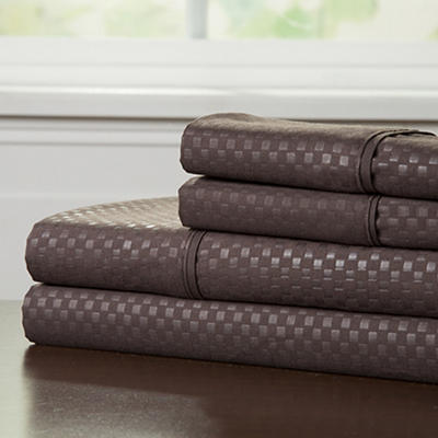 Lavish Home Queen-Size Brushed Microfiber 4-Pc. Sheet Set - Chocolate