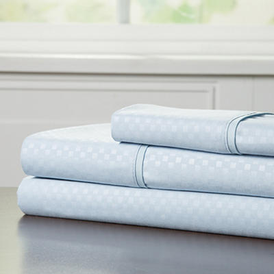 Lavish Home Twin-Size Brushed Microfiber 3-Pc. Sheet Set - Blue
