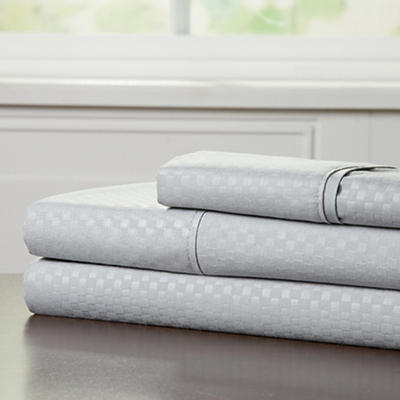 Lavish Home Twin-Size Brushed Microfiber 3-Pc. Sheet Set - Platinum