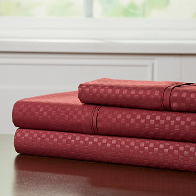 Lavish Home Twin XL-Size Brushed Microfiber 3-Pc. Sheet Set - Burgundy