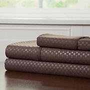 Lavish Home Twin XL-Size Brushed Microfiber 3-Pc. Sheet Set - Chocolate