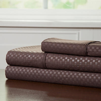 Lavish Home Twin XL-Size Brushed Microfiber 3-Pc. Sheet Set - Chocolat