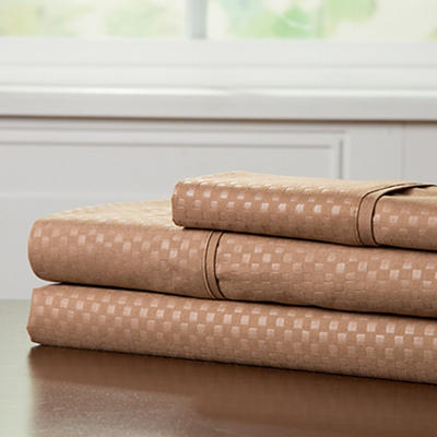 Lavish Home Twin XL-Size Brushed Microfiber 3-Pc. Sheet Set - Taupe