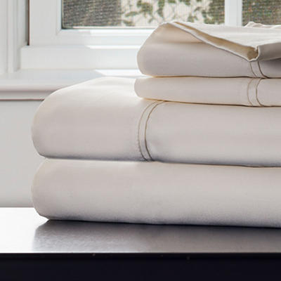 Lavish Home King-Size 1,000-Thread-Count Cotton Sateen Sheet Set - Ivo