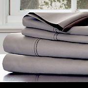 Lavish Home 1,000-Thread-Count Cotton Sateen Sheet Set - Platinum