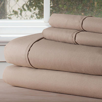 Lavish Home 1200 Series Queen-Size 4-Pc. Sheet Set - Taupe