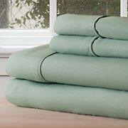Lavish Home 1200 Series Twin XL-Size 3-Pc. Sheet Set - Sage