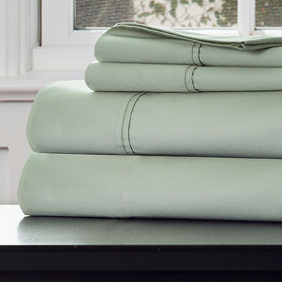 Lavish Home Queen-Size 1,000-Thread-Count Cotton Sateen Sheet Set - Gr