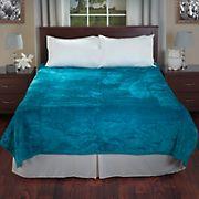 Lavish Home Solid Soft Thick Mink Blanket - Aqua