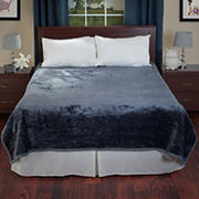 Lavish Home Solid Soft Thick Mink Blanket