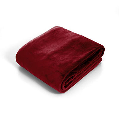 Lavish Home Twin-Size Super Soft Flannel Blanket - Burgundy