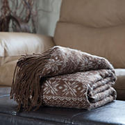 Lavish Home Jacquard Blanket Throw
