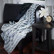 Lavish Home Plush Striped Faux Fur Throw - Black