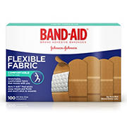 Band-Aid Brand Flexible Fabric Adhesive Bandages for Minor Wound Care, 100 ct.