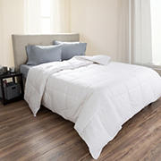 Lavish Home Cotton Feather Down Comforter - White
