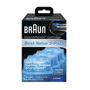 Braun Clean & Renew Cartridges, 3 pk.